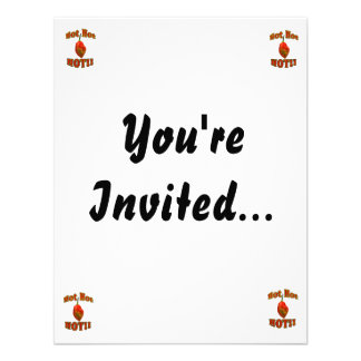 Hot Hot HOT Single Habanero Pepper Custom Invitation
