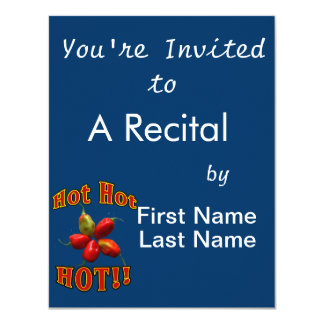 Hot Hot HOT Star Habanero Peppers 11 Cm X 14 Cm Invitation Card