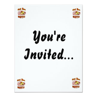 Hot Hot HOT White Habanero Peppers in Hand 11 Cm X 14 Cm Invitation Card