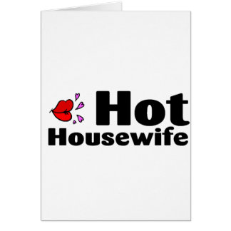 Hot Housewife Greeting Card