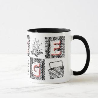 Hot & hygge mug (black & red)