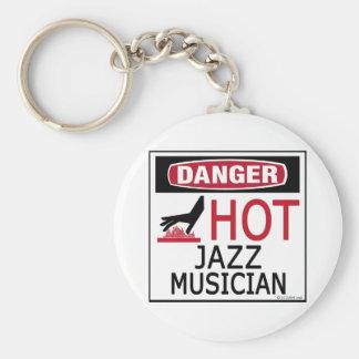 Hot Jazz Musician Key Ring