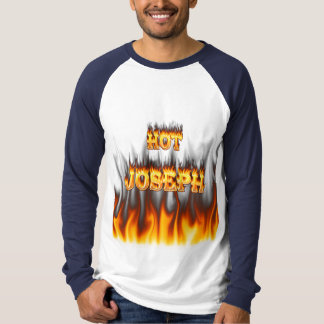Hot Joseph fire and flames red marble. T Shirts