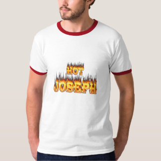 Hot Joseph fire and flames red marble. T-shirts