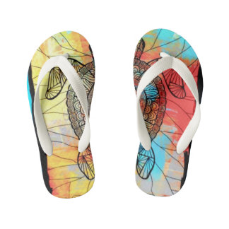 """HOT KIDS FLIP FLOPS 3"" ABSTRACT IMAGE"