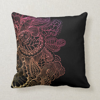 Hot Lace on Black Cushion
