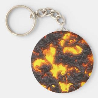 Hot Lava Basic Round Button Key Ring