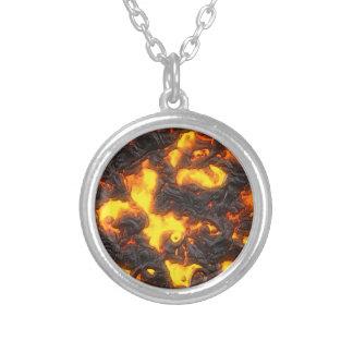 Hot Lava Round Pendant Necklace