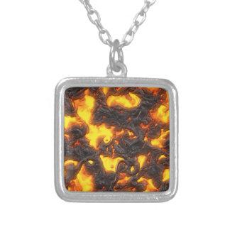 Hot Lava Square Pendant Necklace