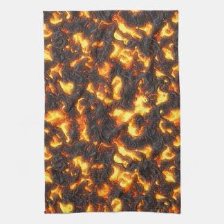 Hot Lava Tea Towel