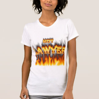 Hot Lawyer fire and flames red marble T Shirt
