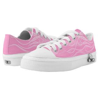 Hot Licks Kicks Pink Low Tops Printed Shoes