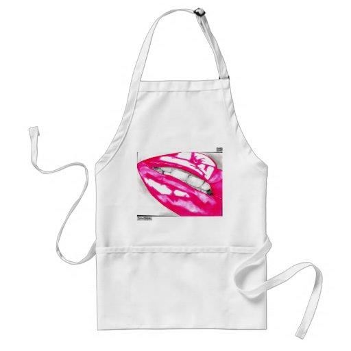 Hot Lips Apron (Pink)