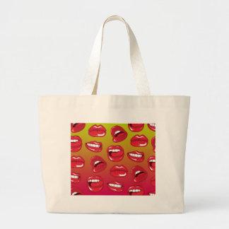 Hot Lips Tote Bags