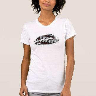 Hot Lips Ladies AA Cap Sleeve - Customized Tee Shirts