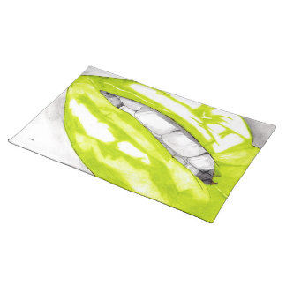 Hot Lips (Lime) Placemat