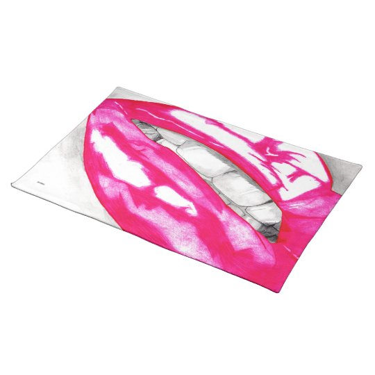 Hot Lips (Pink) Placemat
