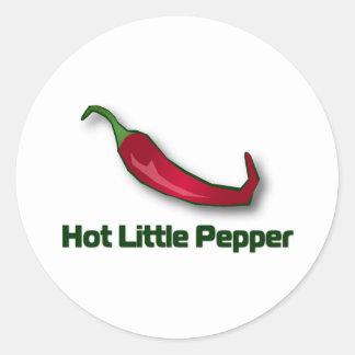 Hot Little Pepper Round Stickers