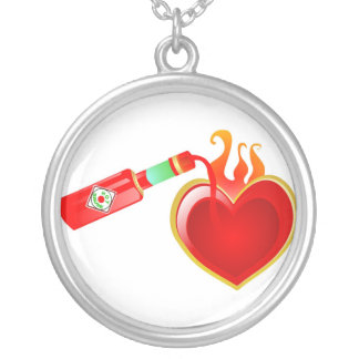 Hot Love Round Pendant Necklace