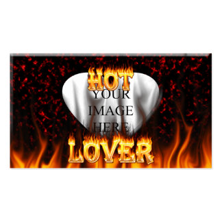 Hot lover fire and red marble pack of standard business cards