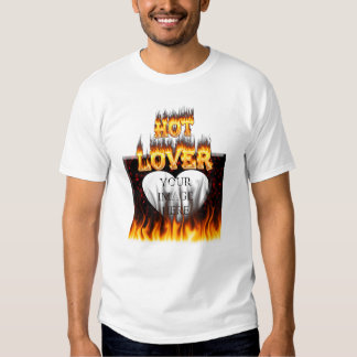 Hot lover fire and red marble tee shirt