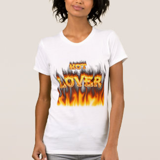 Hot lover fire and red marble tshirt
