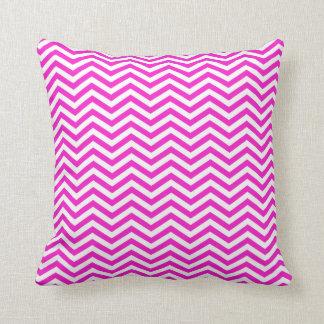 Hot Magenta Chevron Stripes Cushion