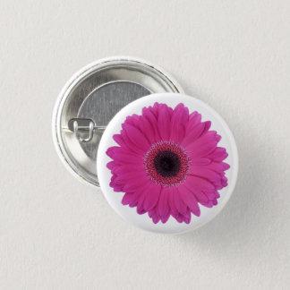 Hot Magenta Pink Gerbera Daisy Flower 3 Cm Round Badge