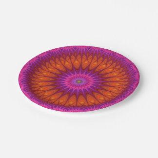 Hot mandala paper plate