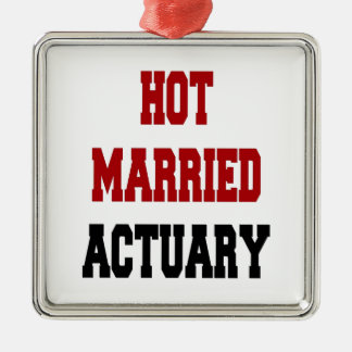 Hot Married Actuary Christmas Ornament