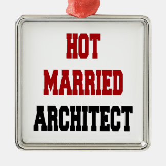 Hot Married Architect Christmas Ornament