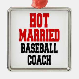 Hot Married Baseball Coach Christmas Ornament