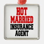Hot Married Insurance Agent Silver-Colored Square Decoration