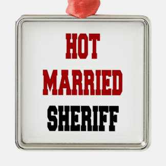 Hot Married Sheriff Christmas Ornament