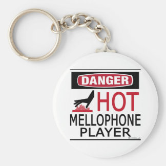 Hot Mellophone Player Basic Round Button Key Ring