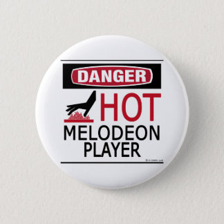 Hot Melodeon Player 6 Cm Round Badge