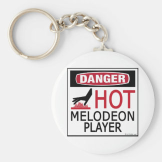 Hot Melodeon Player Key Chains