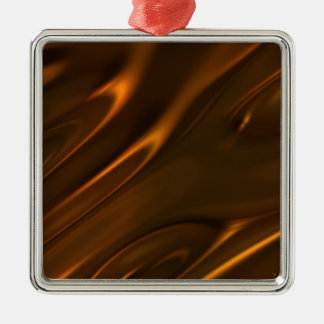 Hot Melted Liquid Chocolate Textured Christmas Ornament