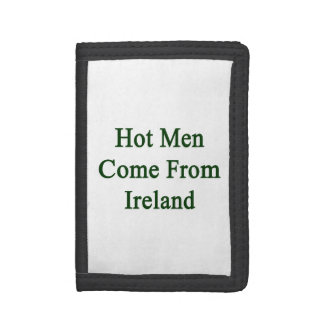 Hot Men Come From Ireland Trifold Wallets
