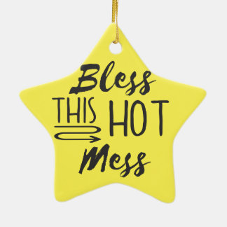 Hot Mess Christmas Ornament