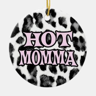 Hot Momma Round Ceramic Decoration