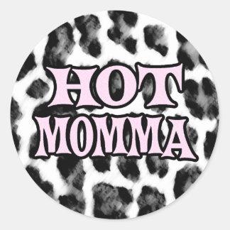 Hot Momma Round Sticker