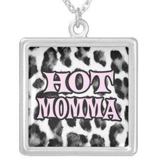 Hot Momma Square Pendant Necklace