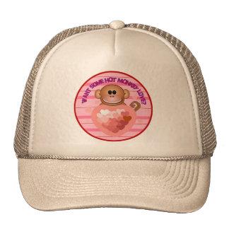 Hot Monkey Love Valentines Day Hat