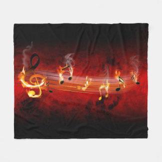 Hot Music Notes Fleece Blanket