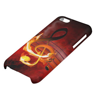 Hot Music Notes Glossy iPhone 5C Case