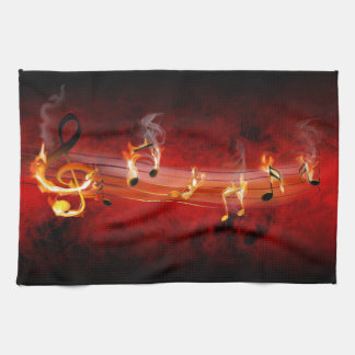 Hot Music Notes Kitchen Towel