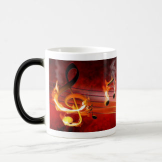 Hot Music Notes Morph Mug