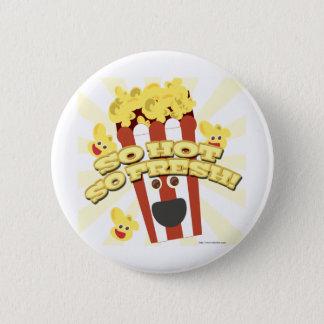 Hot N Fresh Popcorn 6 Cm Round Badge