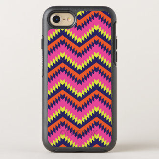 Hot Neon Chevron Tribal Pattern Orange Pink OtterBox Symmetry iPhone 8/7 Case